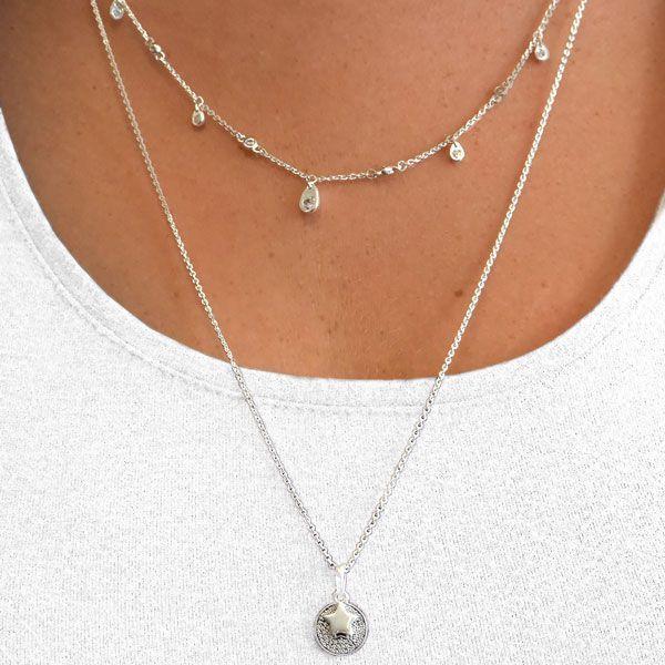 Basic Silber SFK.03 Fußkette Damen Fußkettchen Silber 24,5 cm